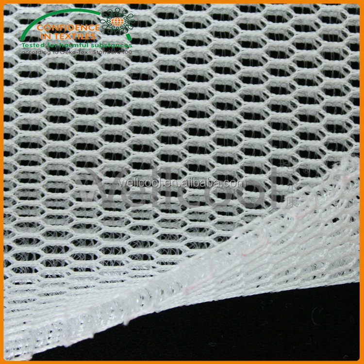 6mm polyester washable 3d air mesh fabric