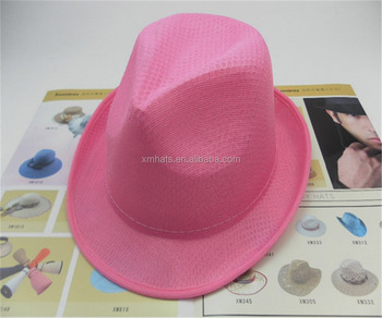logo print promotion bucket polyester straw hats