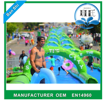 Hot sale water slide the city for adult, giant inflatable water slide, slide the city