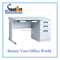 metal frame with wooden top steel office table desk