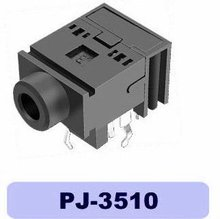dip phone jack connector PJ-3510