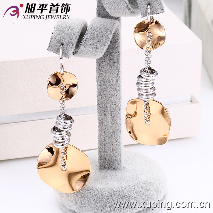 26788 Gold plating women long earrings costume jewellery, imitation jewelry