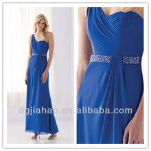 New Arrival One Shoulder Beaded Royal Blue Bridesmaid Gowns