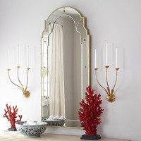 Hot Sales Tall French Salon Mirror frame in gold finish and accented with starburst studs for fashion home decoration