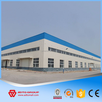 ADTO Group Ready Made Steel Structure Prefabricated House, Fast Building Metal Workshop with Drawing For Sale