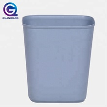 simple plastic PP indoor kitchen hotel trash can with open top