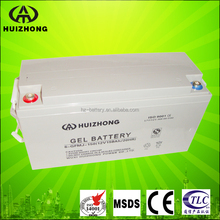 Valve regulated lead acid AGM gel battery 12v 160ah solar batteries deep cycle