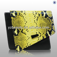 High-grade python fashion lady shaped clutch