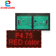 Best sales in China P4.75 led module factory Single Red color SMD2121 LED display module