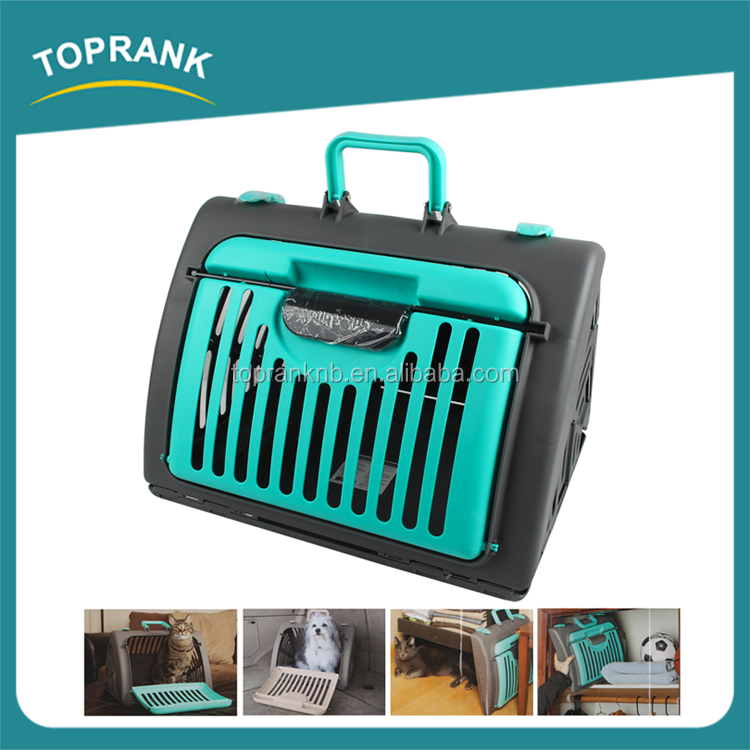 High quality expandable folding pet cat dog cages plastic cat carrier
