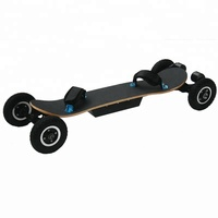 High speed 50KM/H 4 wheels motorized mountain board off road electric skateboard for Sale