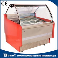 Hot selling Stainless Steel ice cream gelato display case
