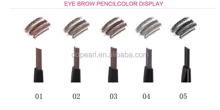 2016 new non-smudge double sided automatic angle eyebrow pencil mascara set