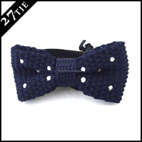 Fashion silk bow Tie, Handmade knitted bow tie