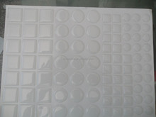 self adhesive circle dot epoxy sticker,3d custom epoxy sticker