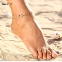 Beach Anklet Feet Jewelry Anchor Elephant