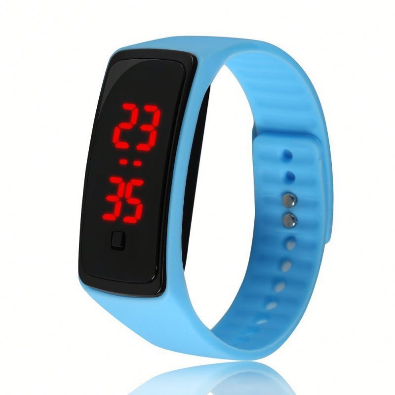 wholesale fashion sports silicone led watch for men women