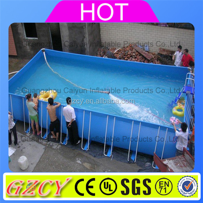 Factory Folding Plastic pools metal Frame outdoor plastic rubber swimming pool
