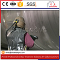 complete sandblasting booth with recycling system