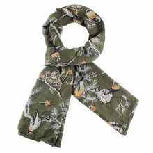 Ladies' 50% viscose 50%cotton printed woven scarf