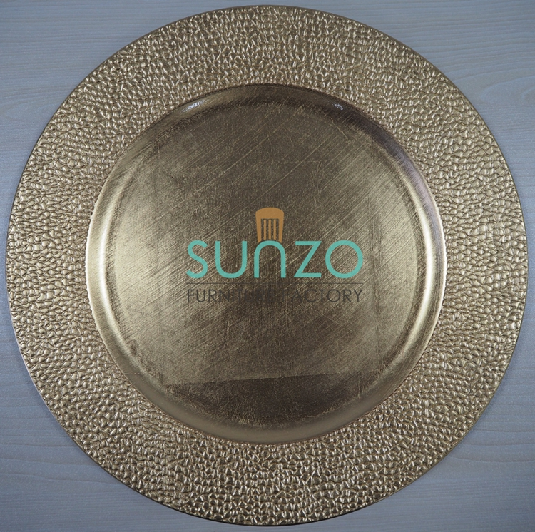 Decorative Cheap Plastic Charger <strong>Plates</strong> Wholesale For Weddings SZ-PC004