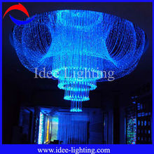 LED fiber optic crystal chandelier for KTV/Hotel/Shopping Mall/Coffee House/company office