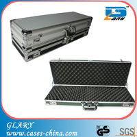 Two choice of hard ABS surface EVA padded gun case