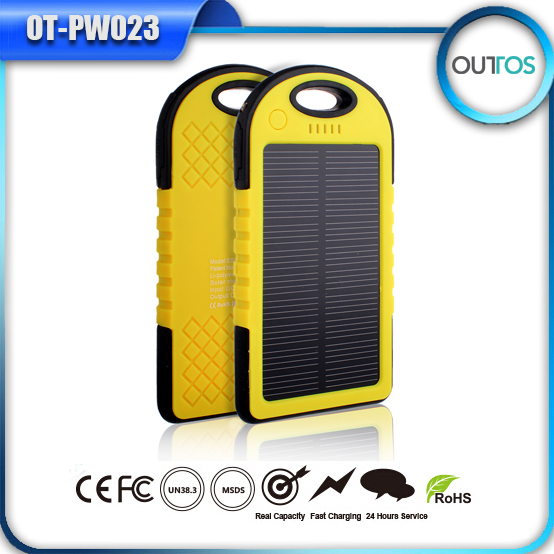 High quality factory price 5000mah solar power bank