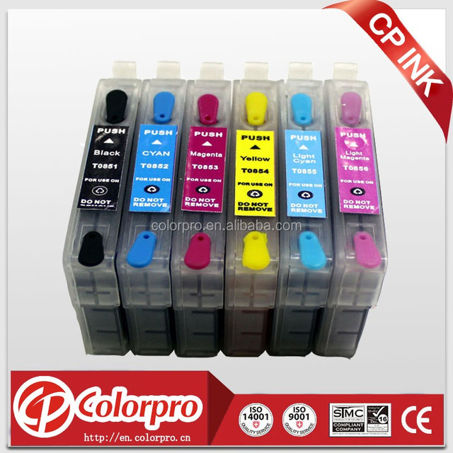 Refillable ink cartridge T0851 for epson Stylus Photo 1390 for Epson refillable T0851-T0856