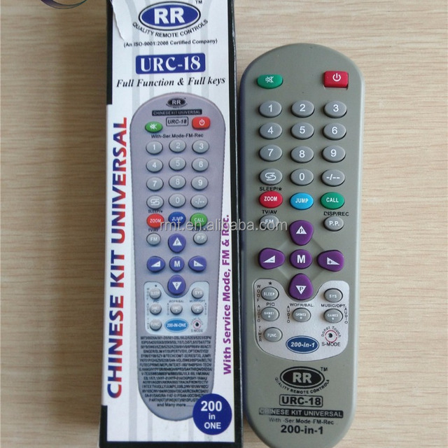 Chinese kit 200 in 1 universal TV remote control URC-18 for India market cheap price