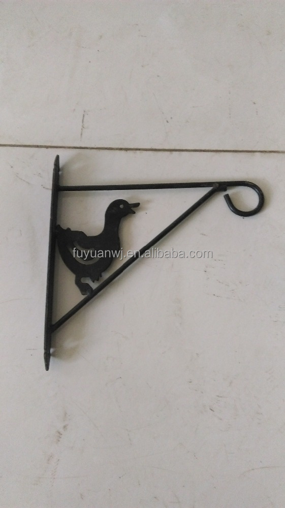 Garden Hanging Black Plant Bracket