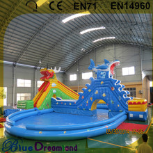 Professional factory inflatable bouncy shark water slide adults for wholesales