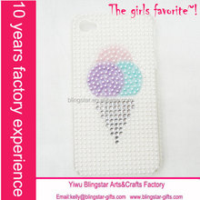 hot selling ice cream beaded case for iphone 5