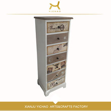 Gray Cheap Solid Wood Deck Locker shoe rack cabinet ,Antique Cabinet , Chest Of Drawers