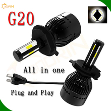 80w ALL-IN-ONE 360 degree led kit high power led car headlight h4 dual hi/lo beam h7 led headlight kit 80w 8000lm G20 6000K