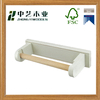 Wholesale handmade unfinished cheap wooden toilet roll holder