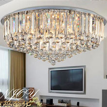2017 New arrival plastic crystal chandeliers for hotel project club villa