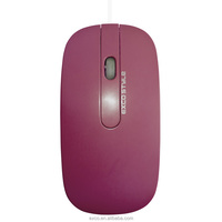 EXCO Ergonomic Simple wired mouse/ custom logo for promotion