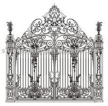 Top-selling decorative wrought Imperial iron fancy gates
