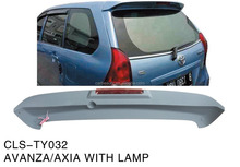 TY032 ABS rear wing spoiler for TOYOTA AVANZA/AXIA+L
