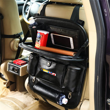 VICUNA POLO New Arrival Multi-functional Travel Car Back Seat Organizer Phone iPad Holder Umbrella Car Storage Bag