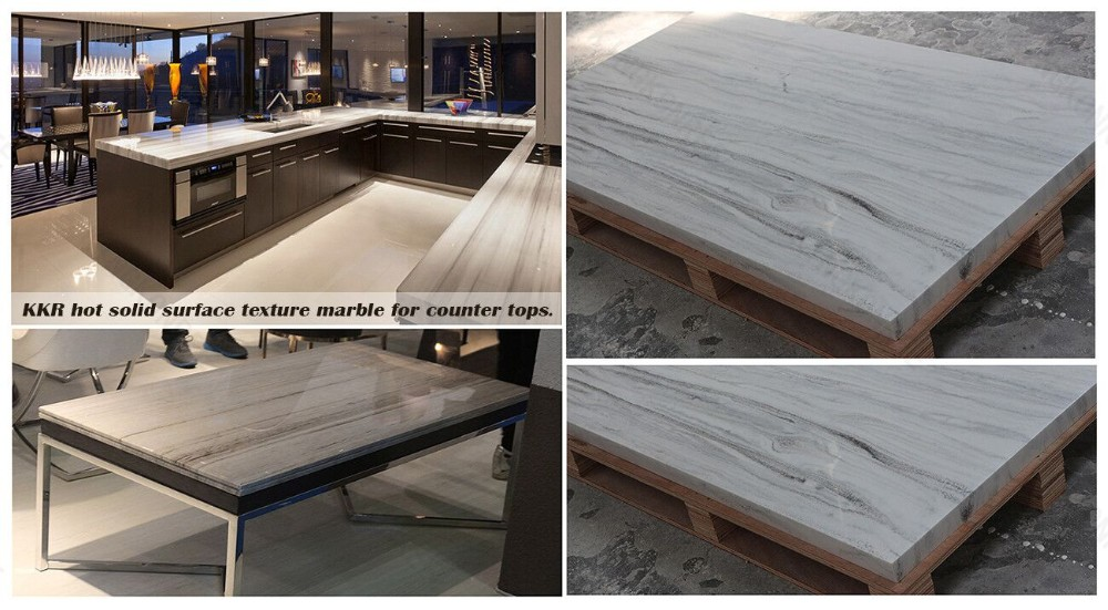 Bendable Cheap countertops 100% pure acrylic solid surface with all kind of shape