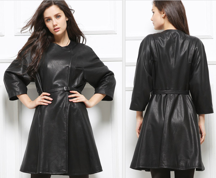 Womens Lambskin Fitted Leather Jacket Coat