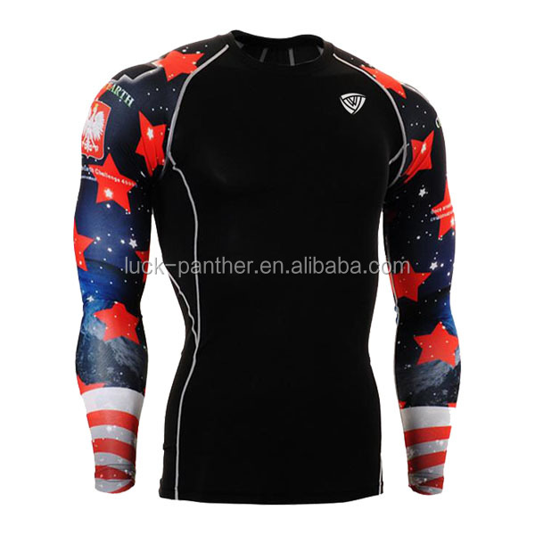sublimation compression track and field tops