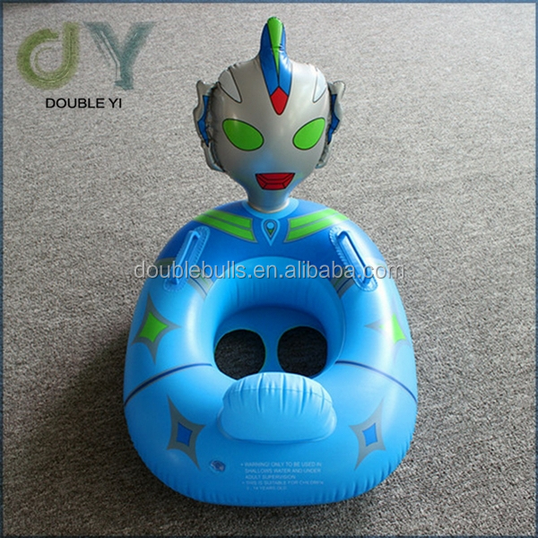 Custom China manufacturer Cartoon Police Car Ride Baby Swimming Floats baby swim tube seat pool