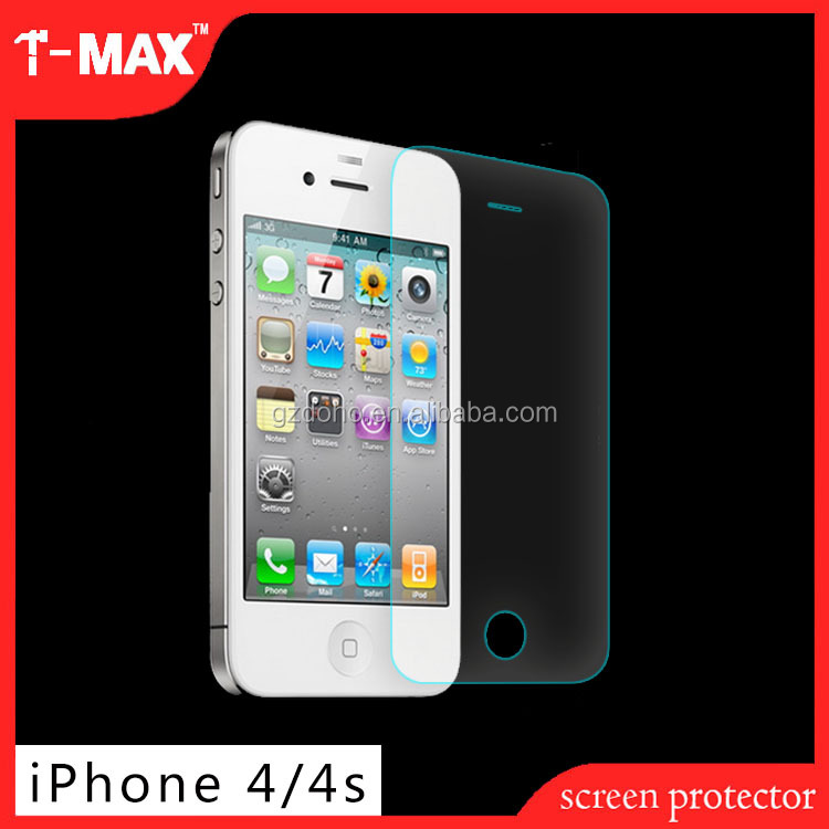 Anti-shock protector for iphone 4/4s tempered glass screen protector for iphone4 4s