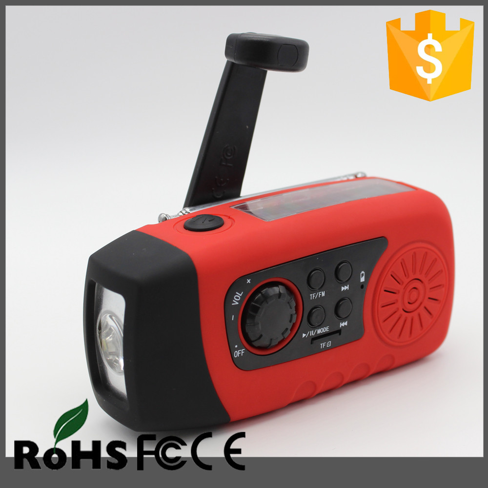 New Product diy survival kit list with LED torch, FM radio,2000mAh power bank