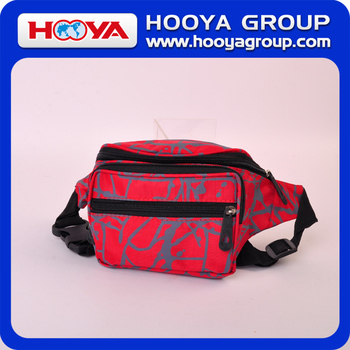 nylon red outdoor/travel/sport waist bag
