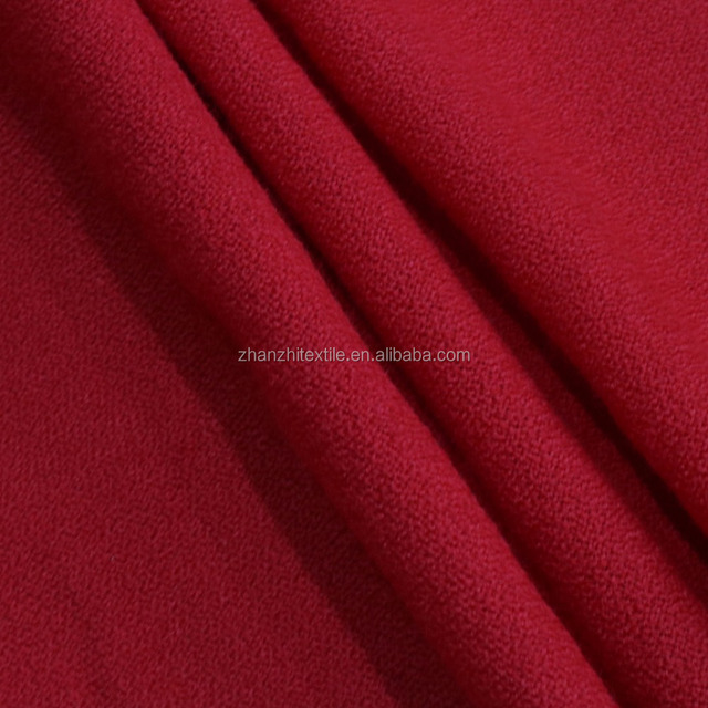 red camouflage waterproof flexible wool fabric for clothes