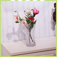 2017 New product welcomed handmade fabric magnolia funeral flower arrangements